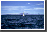 Sailboat on Lake Titicaca