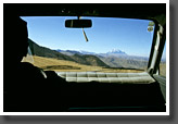Driving to Refugio Chacaltaya