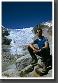 Gernot in front of Laguna Glacial